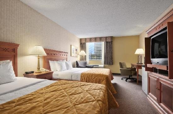 Gateway Hotel Dallas: Double Queen Bedroom. We do not have any normal double beds.