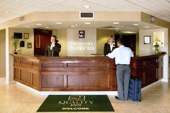 University Quality Inn: 24 hour front desk staff