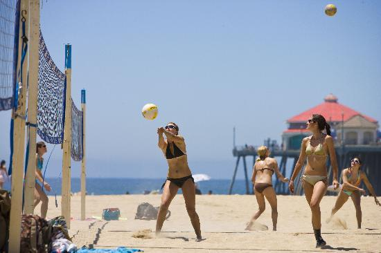 Хантингтон-Бич, Калифорния: Beach Volleyball at Huntington Beach's City Beach