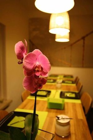 Bamboo B&B : Breakfast flower