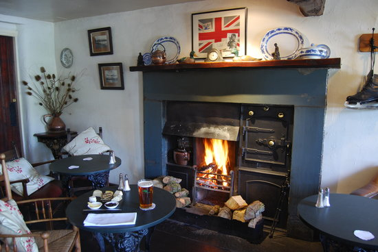 The Tower Bank Arms: A roaring log fire!