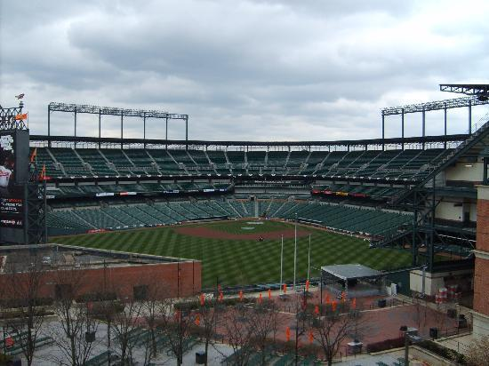 Hilton Baltimore Inner Harbor View Of Camden Yards From Room