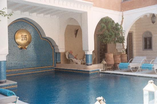 Ksar Anika: Our private potio by the pool.