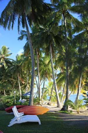 Sunhaven Beach Bungalows: Sun lounges and Kayaks to use at Sunhaven