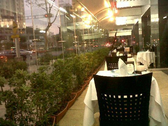 Evita Restaurante: Terraza