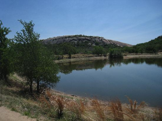 "Enchanted Rock State Natural Area: ""The Lake"" looking towards ""The Rock"""