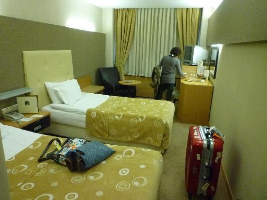 Surmeli Ankara: 日本のビジネスホテルと同じ位の広さの部屋