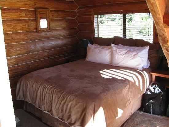 Fiordland Lodge: Log cabin bedroom
