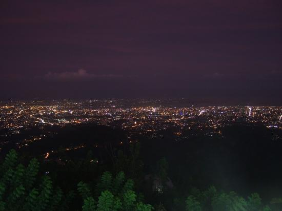 Tops Lookout: cebu at night from Tops