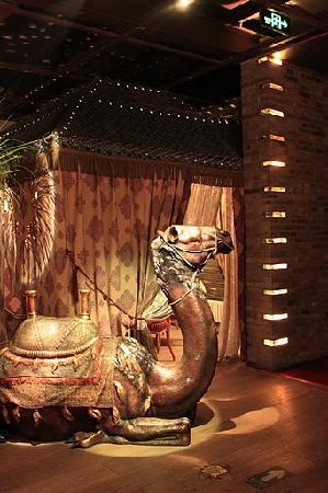 Pure Lotus Vegetarian (Changhong Qiao): One of the tents you can dine in