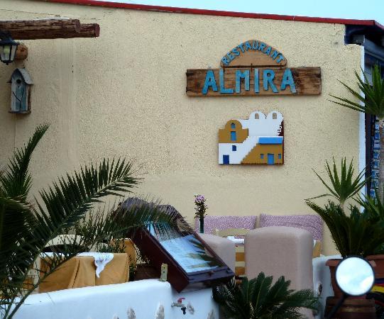 Almira Restaurant: Restaurant front sign