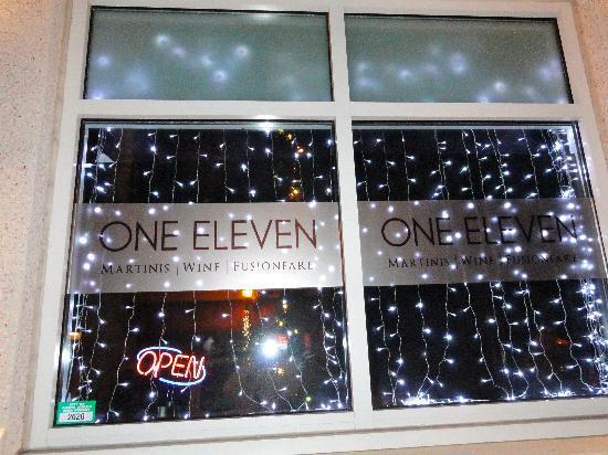 One Eleven Martini Bar: ONE ELEVEN front window