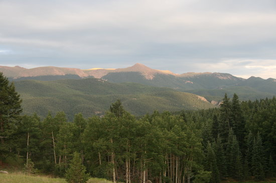 Divide, CO: View of the mountains from our campsite