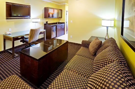 Holiday Inn Hotel & Suites McKinney - Fairview: Our gorgeous 2-Room King Suite offers a flat screen TV, microwave, mini-refrigerator, ceiling fa