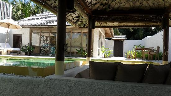 Evason Hua Hin: Pool Villa with garden, view from day-bed