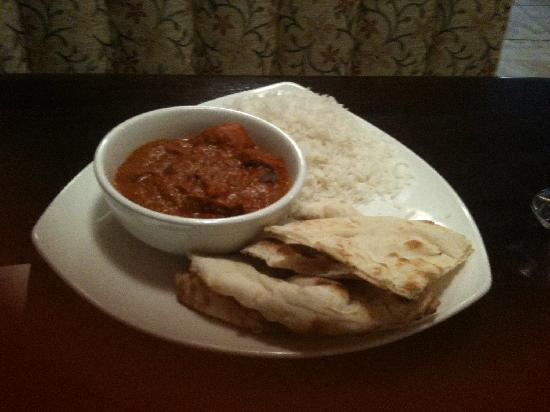 Nawab Authentic Indian Cuisine & Banquet Hall: Chicken Tika Masala w/rice and nan for lunch