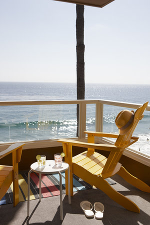 ‪‪Pacific Edge Hotel on Laguna Beach‬: Pacific Edge Beachfront Room Balcony‬