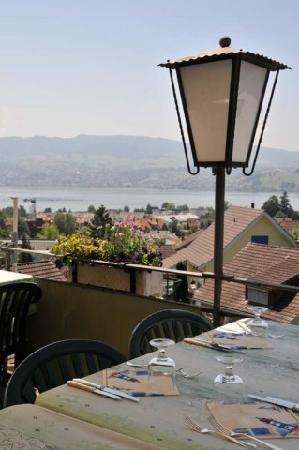 Hotel Gasthof Metzg: Blick von Terasse