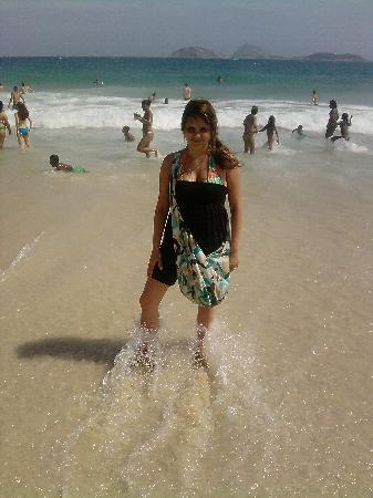 Tulip Inn Copacabana: la playa frente al hotel
