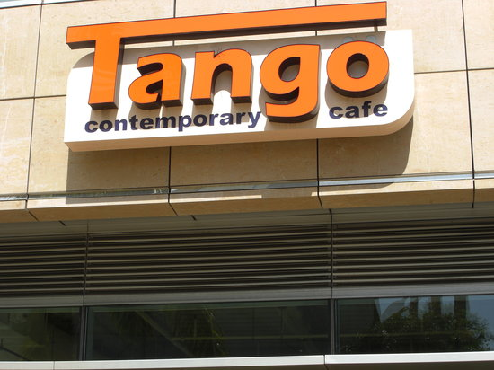Tango Contemporary Cafe: 看板