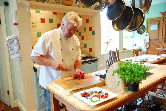 Moorlands Country House: at work in the kitchen