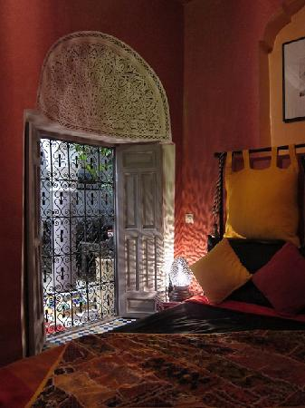 Riad Dar Eliane: Looking onto the courtyard from our bedroom