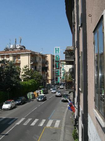 Hotel Italia: Blick vom Hotelbalkon