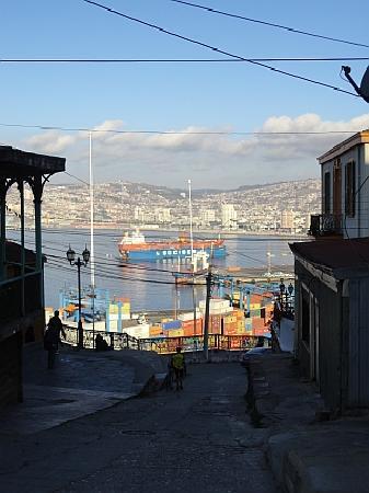 Cerro Concepción: View or the port