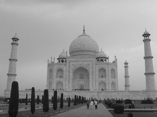 Agra, Indie: Black & White Shot