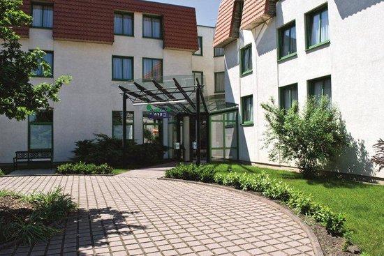 Luebbenau, Tyskland: Der Eingang des Hotels