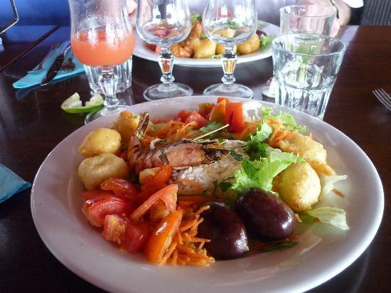 Langley Resort Hotel Fort Royal Guadeloupe : l'assiette créole en entrée