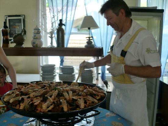 Inter-Hotel de la Plage : la magnifique paella que nous avons eu