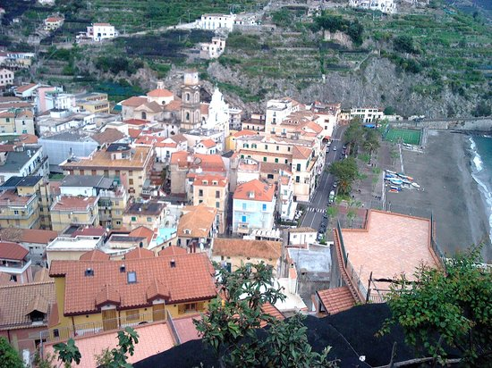 The views from Ravello to Minori