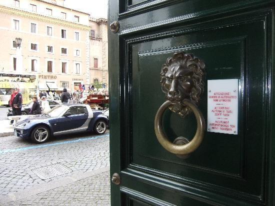 Palazzo Cardinal Cesi: looking out the front door