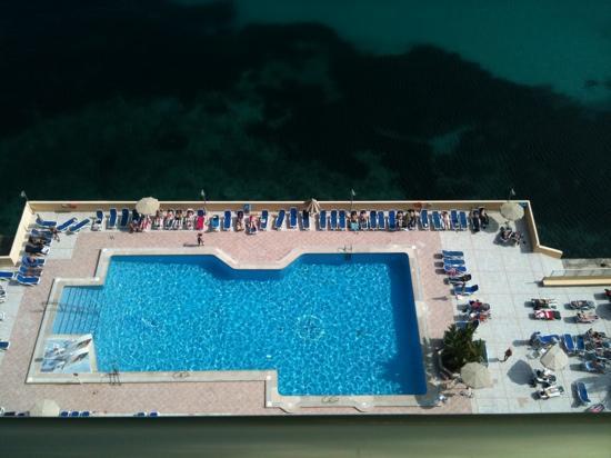 SENTIDO Cala Viñas: view of pool area from balcony