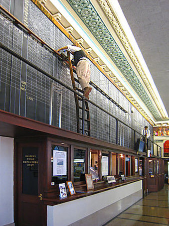 The Cotton Museum at the Memphis Cotton Exchange : The Exchange prices trading board