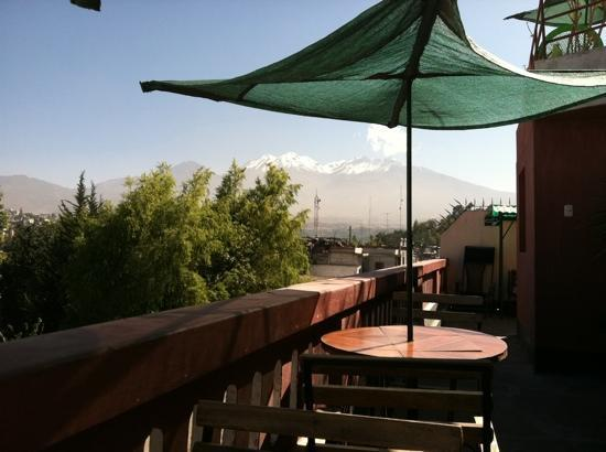 Hostal La Reyna: view from the rooftop deck