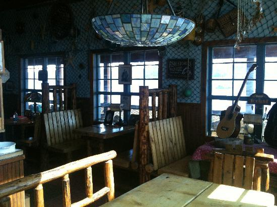 Miller's Landing Seating Area - Fish Stories told here!