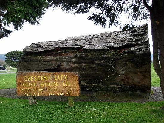 Crescent City (CA) United States  City pictures : Crescent City Beachfront Park huge hollow redwood log Picture of ...