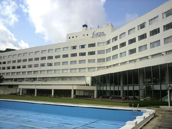 Hotel Izukyu: プールから。宿泊したのは最上階です