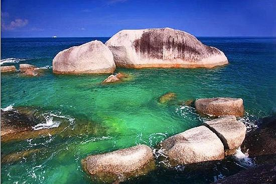 Belitung Island, Indonesia: Gigantic Rocks from the coast