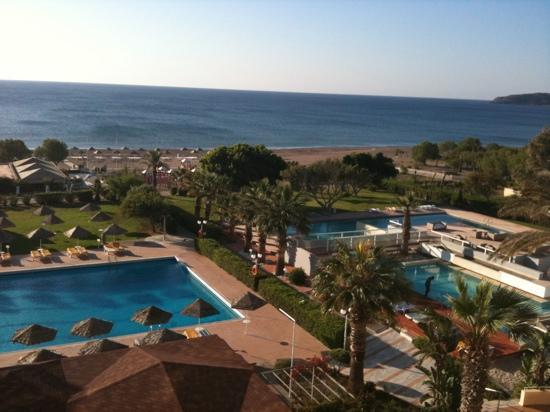 Blue Sea Beach Resort: vue de la chambre 343