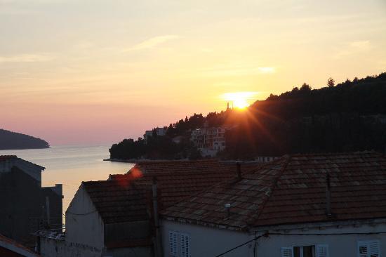 Vela Luka, Κροατία: Puesta de sol (habitación)