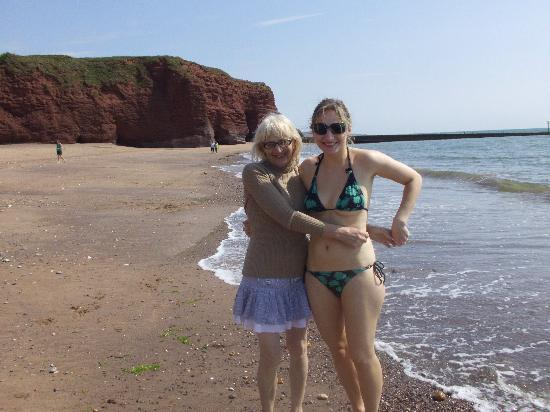 Golden Sands Holiday Park - Park Holidays UK: me and mum on beach