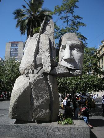 Statue at Plaza de Armas