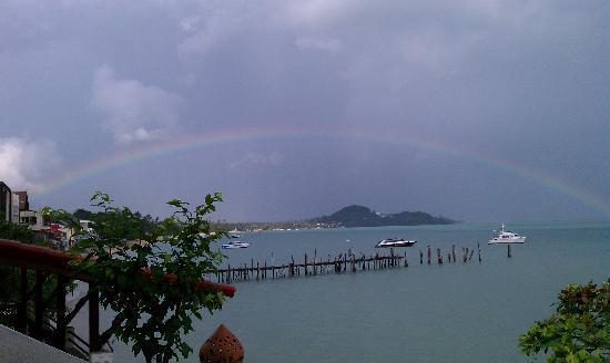 L' Hacienda: An amazing rainstorm was followed by this