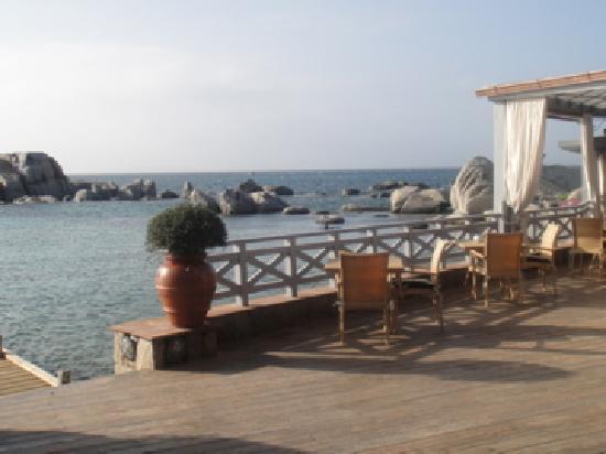 Hotel & Spa des Pecheurs : Vue depuis la terrasse de l'hôtel