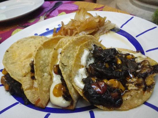 Tacos Don Felix En la Casa : please order the huitlacoche quesadilla - delicious!