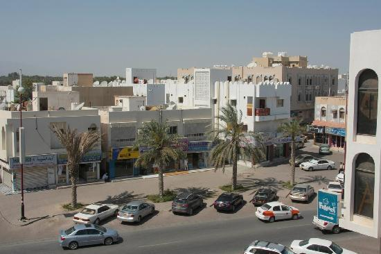 Al Bhajah Hotel: View from our balcony on the 3th floor.