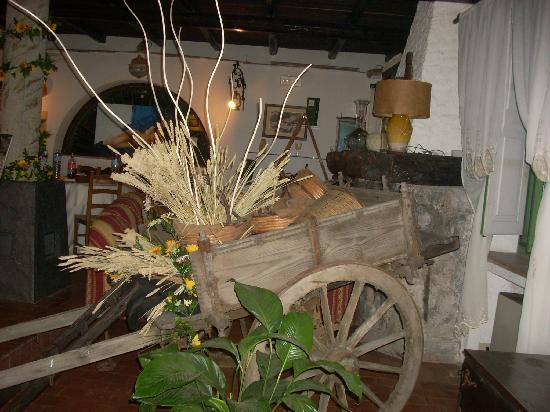 A Massaria: The cart is only one of the artifacts on display.
